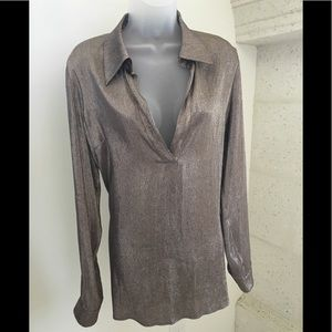 GUCCI Long Sleeve Metallic Blouse